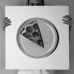 арт-работы-художник CJ Хендри-пицца