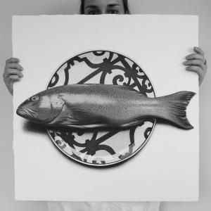 арт-работы-художник CJ Хендри-рыба