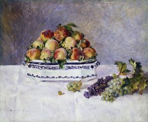 ренуар-натюрморт-персики и виноград, 1881 600 х 497