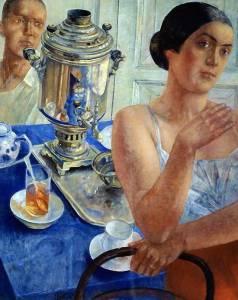 Кузьма Петров-Водкин (1878-1939) У самовара. 1926 г.