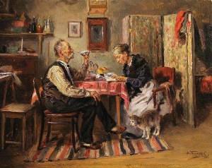 Маковский В.Е Утренний чай, 1891 900 х 714