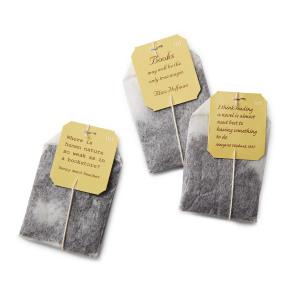 Novel Tea-пакетики с цитатами