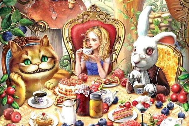 безумное чаепитие- алиса в старне чудес-льюис кэрролл