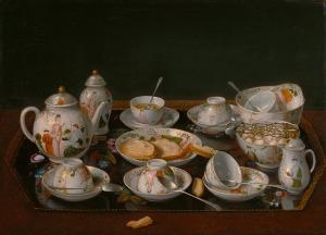 Жан Этьен Лиотар Натюрморт с чайным сервизом 850 х 612