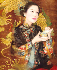 китайский художник Der Jen 500 х 611