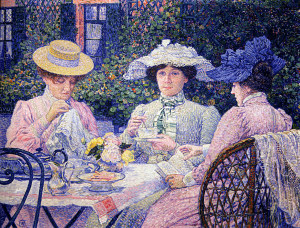 -tea-in-the-garden-1901 Theo van Rysselberghe
