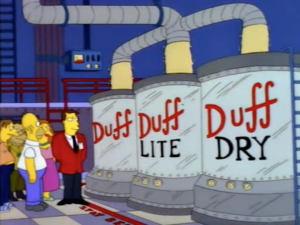 Duff Beer Episode-lite-dry