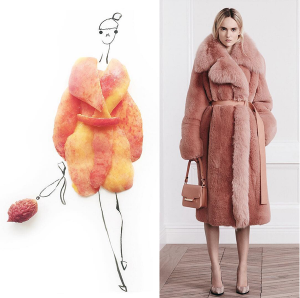 фуд-фешн-Gretchen-Röehrs-food-fashion-art-персик