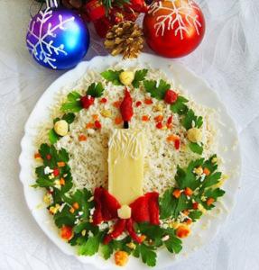новогодний салат  500 х 521