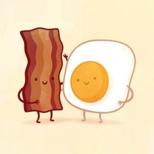 пищевые пары-иллюстрации-Tseng- Бэкон и яйцо