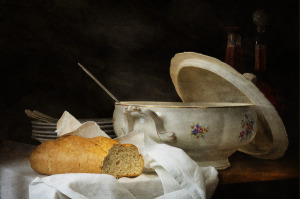 Анна Валайер-Костер Натюрморт с кастрюлей супа  900 х 598