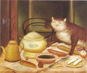 Фернандо Ботеро. Натюрморт з зеленим супом. 1972  870 х 729