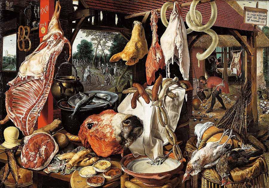 Питер Артсен Мясная лавка (1551) 900 х 629