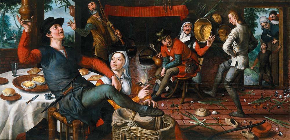 Питер Артсен Яичный танец (1552 ) - 1000 х 484