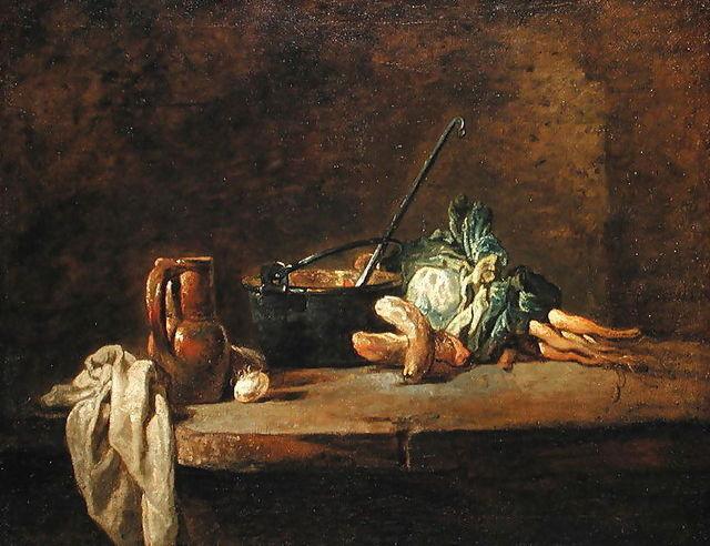 Жан-Батист Симеон Шарден Натюрморт с овощами для супа 1732г. 640 х 492