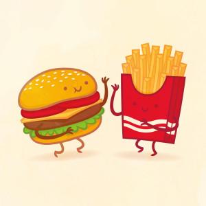 пищевые пары-иллюстрации-Tseng--Бургер и картофель-фри