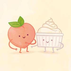 пищевые пары-иллюстрации-Tseng--Клубника со сливками