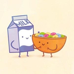 пищевые пары-иллюстрации-Tseng--Молоко с зерновыми колечками