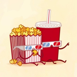 пищевые пары-иллюстрации-Tseng--Попкорн и кока-кола