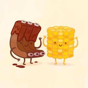 пищевые пары-иллюстрации-Tseng--Ребрышки с кукурузой