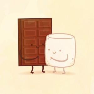 пищевые пары-иллюстрации-Tseng--Шоколад и Зефир