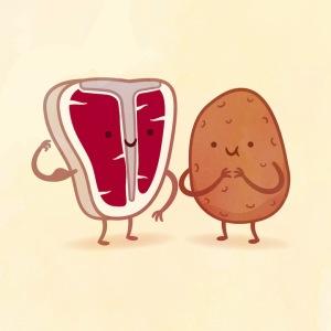 пищевые пары-иллюстрации-Tseng--Стейк и картофель