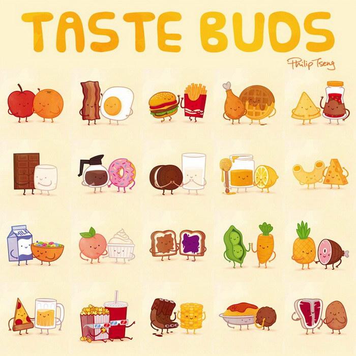 пищевые пары-иллюстрации-Tseng--групповой портрет