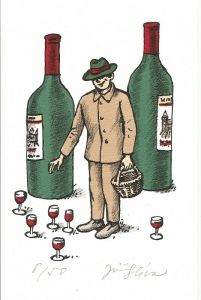 винные карикатуры- Jiri Sliva-Грибник-винодел