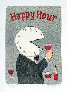 винные карикатуры- Jiri Sliva-Happy Hour