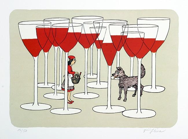 винные карикатуры- Jiri Sliva-Красная Шапочка