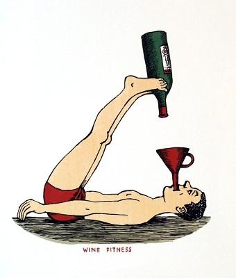 винные карикатуры- Jiri Sliva-Винный фитнес
