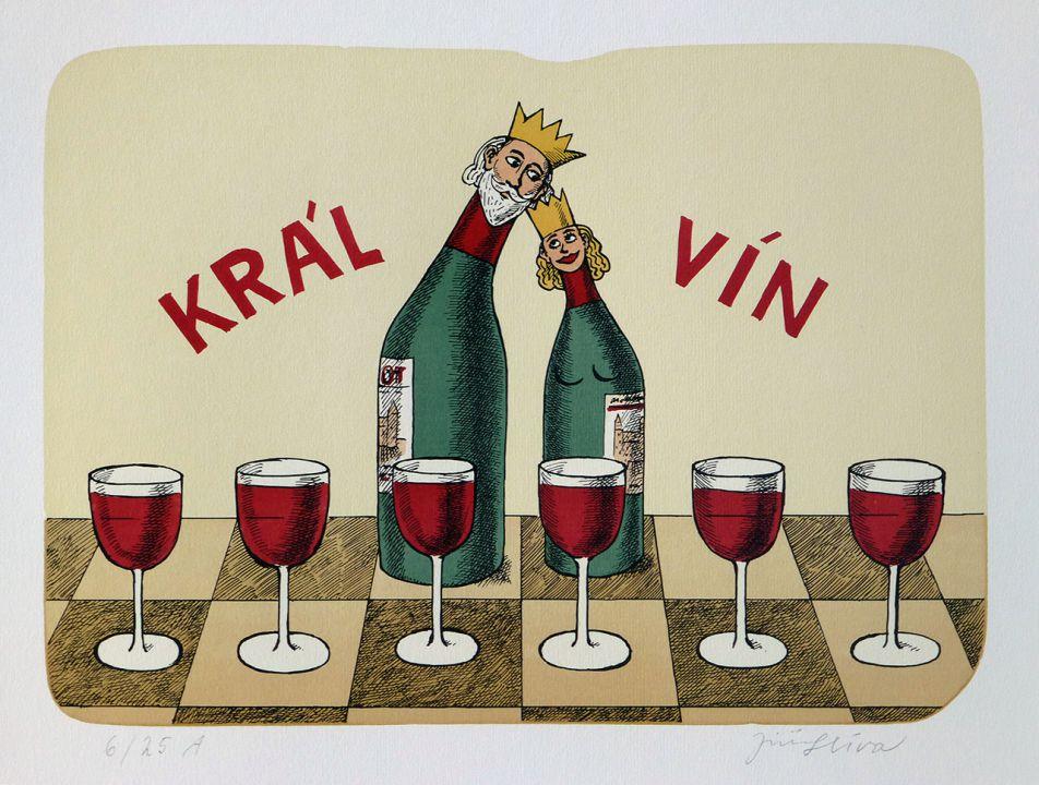 винные карикатуры- Jiri Sliva-Винный король