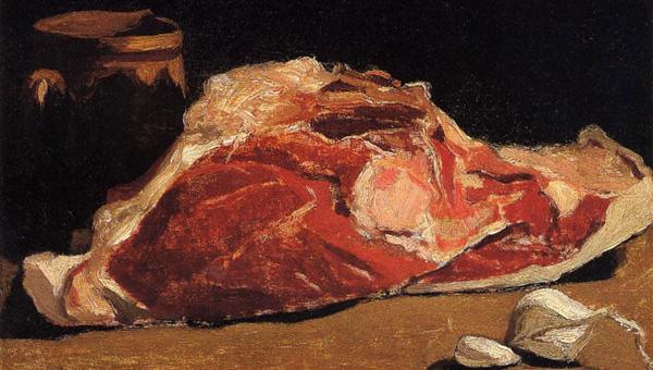 Клод Моне. Натюрморт с мясом 600 Х 340