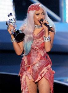 Lady Gaga мясное платье 450 х 611
