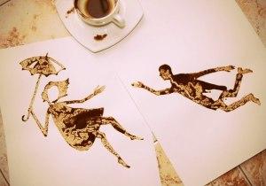 рисунки пролитого кофе-Николай Мирумян -11