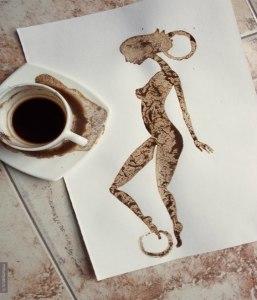 рисунки пролитого кофе-Николай Мирумян -14