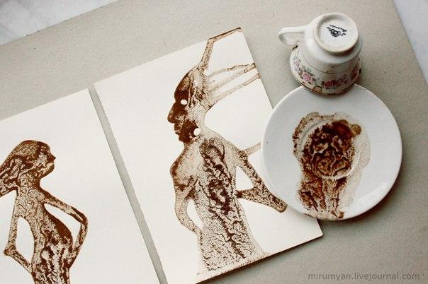 рисунки пролитого кофе-Николай Мирумян -21
