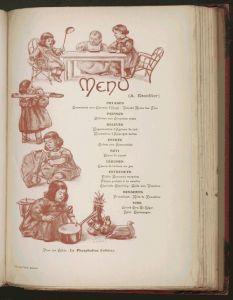 Almanach des Gourmands. Alexandre Balthazar Grimod de la Reynière-menu