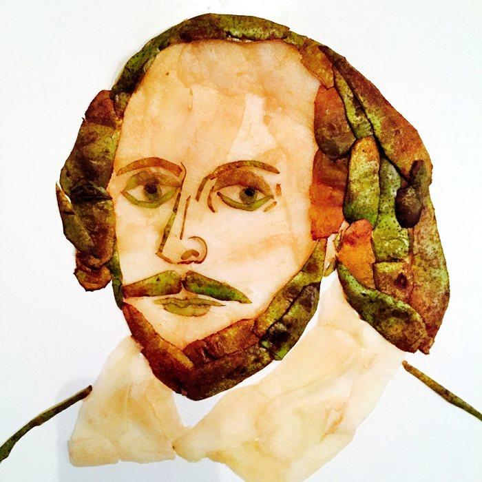 Уильям Шекспир (Shakespear) из садовых фруктов