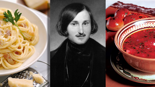 culinary preferences of geniuses Gogol 600 x 340