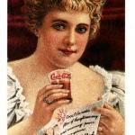 рекламный постер кока кола- актриса Хильда Кларк (Clark)