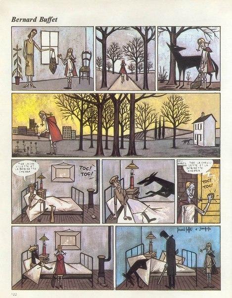 стрип-комиксы Jean Ache (1973)- a-la bernard buffet