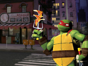 Черепашки ниндзя-pizza-видеоигра