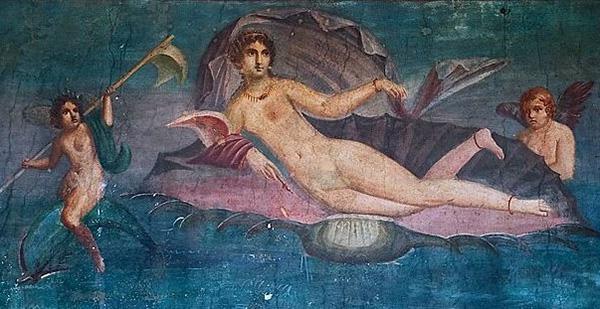 Рождение Венеры фреска из Помпеи 600 х 309