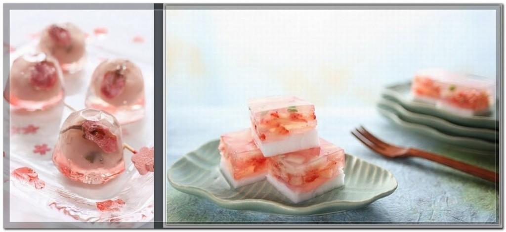 Японские десерты из желе - japanese sweet jelly cakes