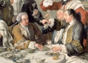 Завтрак с устрицами, фрагмент картины
