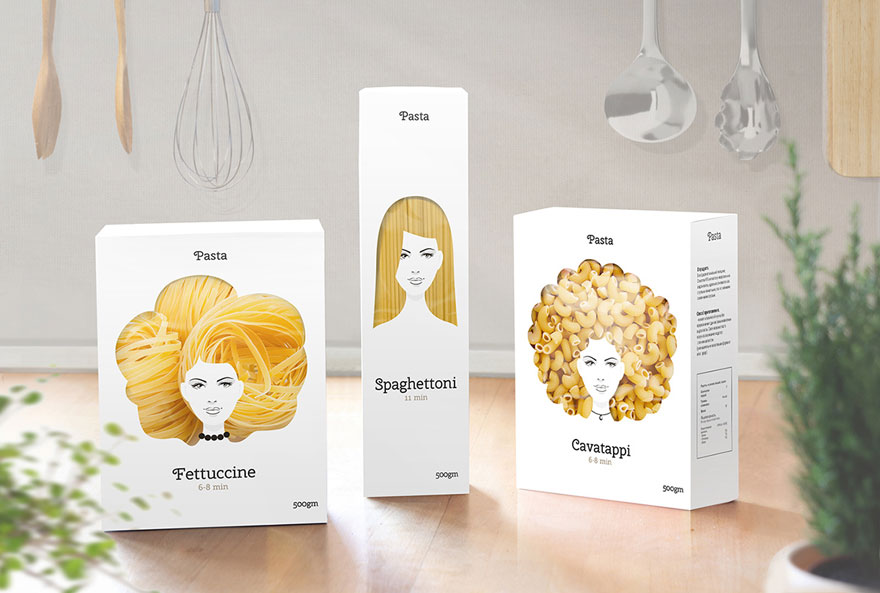 creative-packaging-pasta-hairstyles