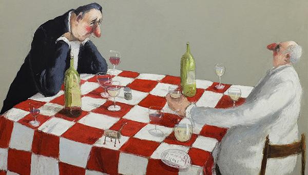 Юмор в живописи - картины Томаса Боссарда - 600 х 340