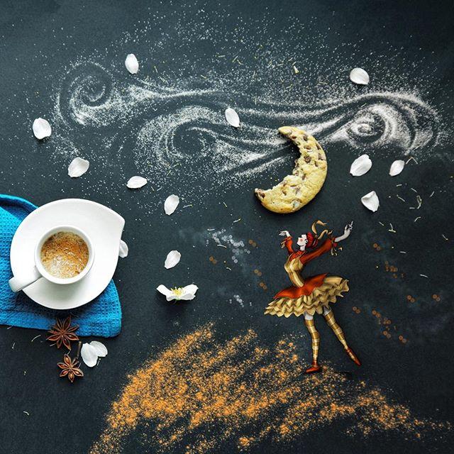 кофейные арт компиляции - Синтия Болоньези (Cinzia Bolognesi)-