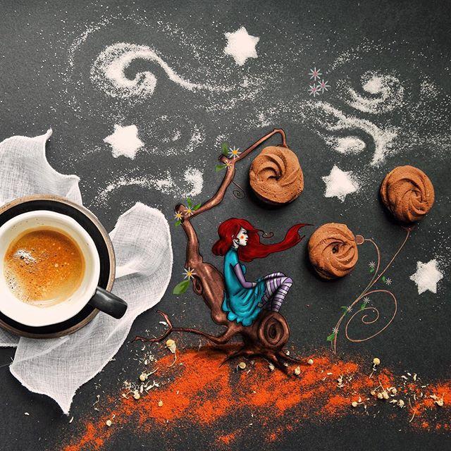 кофейные арт компиляции - Синтия Болоньези (Cinzia Bolognesi)-02